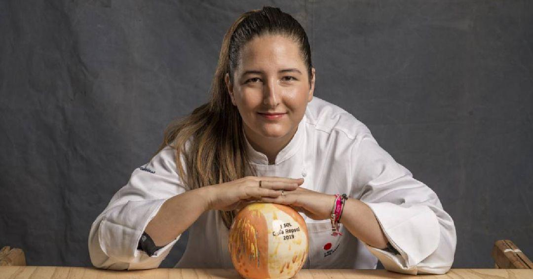 María Gómez roza el cielo en Madrid